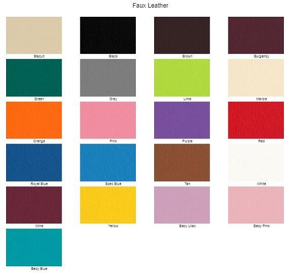 11. Faux leather Colour Options