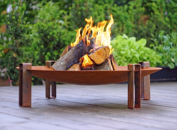 Rusting Fire Pit